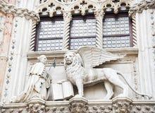 Architecturaal detail van het Dogespaleis Stock Afbeeldingen