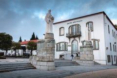 Architecturaal detail van het heiligdom van Onze Dame van Sameiro-gedenkteken dichtbij Braga royalty-vrije stock foto