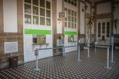 Architecturaal detail van het kleine station van Viana do Castelo stock afbeelding