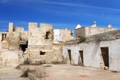 Architecturaal detail van Mazagan, Gr Jadida, Marokko stock fotografie