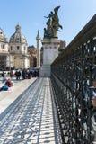 Architecturaal detail van Nationaal Monument aan Victor Emmanuel II, royalty-vrije stock foto's