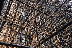 Architecturaal detail van steigerpijpen Royalty-vrije Stock Foto
