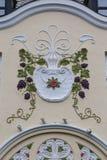 Architecturaal detail - voorgevel van een Art Nouveau-gebouw royalty-vrije stock foto