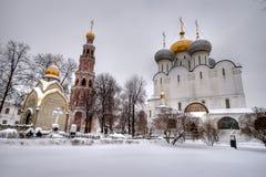 Architecturaal ensemble van klooster Novodevichiy Stock Foto's