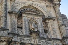 Architecturaal fragment van de Kerk San Miguel, Jerez, Spanje Royalty-vrije Stock Afbeeldingen