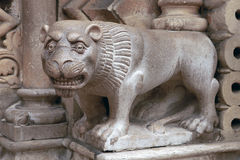 Architecturaal Lion Sculpture Stock Foto