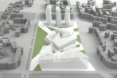 Architecturaal Modelof downtown financial-Stadscentrum royalty-vrije illustratie