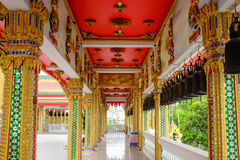 Architecturaal plafond in tempel in Thailand Royalty-vrije Stock Fotografie