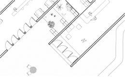 Architecturaal Plan royalty-vrije stock foto