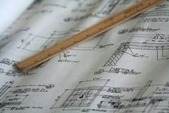 Architecturaal plan Stock Foto