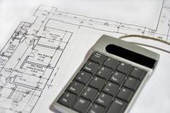 Architecturaal plan Stock Afbeelding