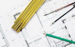 Architecturaal plan Royalty-vrije Stock Afbeelding