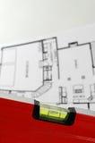 Architecturaal plan van huis royalty-vrije stock foto