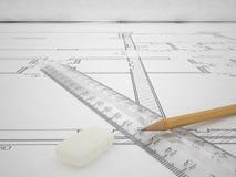 Architecturaal Project Royalty-vrije Stock Afbeeldingen