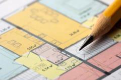 Architecturaal vloerplan Royalty-vrije Stock Afbeeldingen