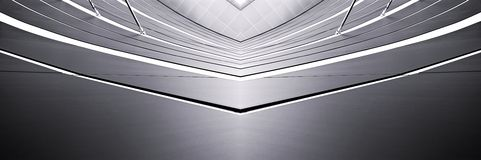 Architectural abstract. Abstract panorama of a symmetrical architectural feature Royalty Free Stock Photography