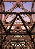 Architectural abstract. Details of Bay Bridge in San Francisco, California Royalty Free Stock Images