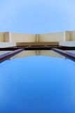 Architectural abstract. Abstract architectural shot, long window from low point Stock Images