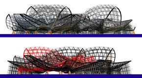 Architectural abstract 3d composition Stock Photography