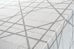 Architectural abstract in black and white Stock Images
