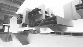 Architectural abstract 3d rendering Royalty Free Stock Image