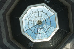 Architectural Abstract Glass roof ceiling Royalty Free Stock Photos
