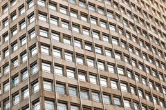 Architectural abstract, an office building Portland House with concrete and windows royalty free stock image