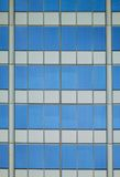 Architectural Abstract With Sky Reflection Stock Photo