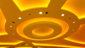 Architectural abstract ceiling light fixture Stock Photography