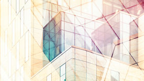 Architectural abstract with warm light and double exposure Royalty Free Stock Photo