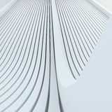 Architectural abstract white background based on extruded rounded lines Stock Photos