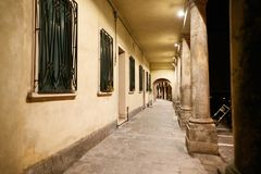 Architectural alley with columns. tonnel with perspective. Architectural alley with columns. tonnel with perspective Royalty Free Stock Photos