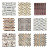 Architectural And Landscape Rocks And Bricks Patterns Set Royalty Free Stock Photography
