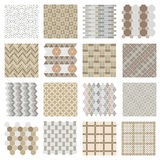 Architectural And Landscape Rocks And Bricks Patterns Set Stock Photos
