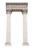 Architectural arch columns on a white background.  Royalty Free Stock Photos