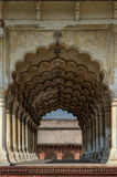 Architectural Arches In The Red Fort Of Delhi. Symmetrical Architectural Arches In The Red Fort (LAL QIL'AH) Of Delhi, India stock photos