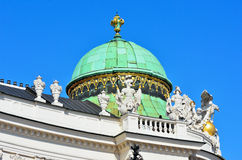 Architectural artistic decorations on Hofburg palace, Vienna Royalty Free Stock Photo