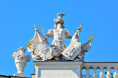 Architectural artistic decorations on Hofburg palace, Vienna Stock Photos