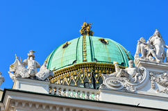 Architectural artistic decorations on Hofburg palace, Vienna. Austria. Hofburg was residence of Habsburg dynasty, rulers of Austro-Hungarian Empire stock photos