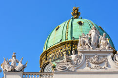 Architectural artistic decorations on Hofburg palace, Vienna Stock Photography