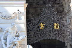 Architectural artistic decorations on Hofburg palace, Vienna; Royalty Free Stock Photo