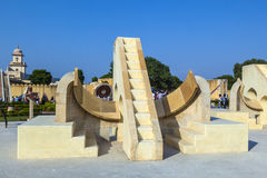 Architectural astronomical instrument in Jantar Mantar Observatory Royalty Free Stock Image