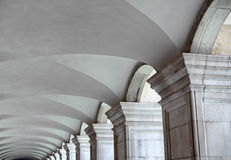 Architectural backdrop of a fluted vaulted ceiling Royalty Free Stock Images