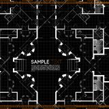 Architectural background. Abstract vector illustration in black color Royalty Free Stock Images