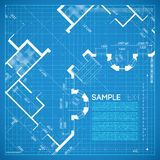 Architectural background. Abstract vector illustration in blue color Royalty Free Stock Photography