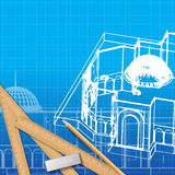 Architectural background for architectural project, Stock Image