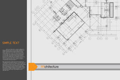 Architectural background on drawing table. Vector Stock Photo
