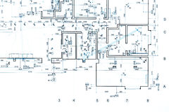 Architectural background, drawing technical plan Stock Images