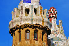Architectural background by Gaudi, Barcelona Stock Images