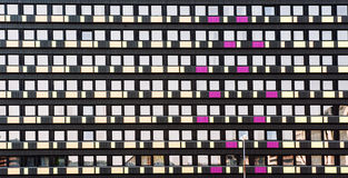 Architectural background of a hotel facade Royalty Free Stock Image